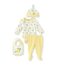 Cuddle Bear® Baby Yellow 4-pc. Long Sleeve Duck Print Take-Me-Home Set
