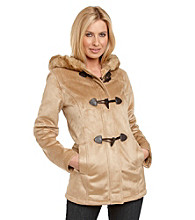 Nautica® Hooded Toggle Faux Shearling