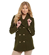 Guess Knit Collar Double-Breasted Pantcoat