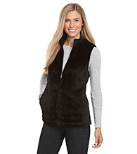 Exertek® Faux Mink Vest With Knit Side Piecing