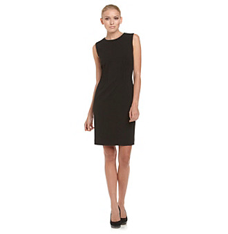 Brands Calvin Klein Pleated Waist Little Black Dress