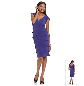 Marina V-Neck Dress With Tiered Skirt