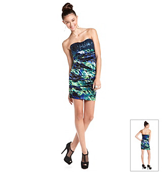Ruby Rox® Juniors' Blue Printed Slim Dress