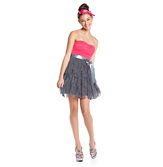 Teez Me Juniors' Colorblocked Party Dress