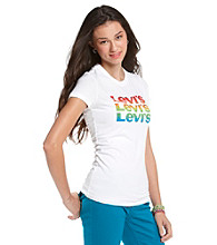 Levi's® Juniors' Stacked Logo Graphic Tee