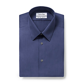 Calvin Klein Men's Blue Ocean Long Sleeve Dress Shirt