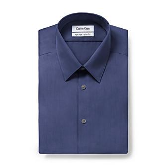 Calvin Klein Men's Blue Ocean Long Sleeve Dress Shirt