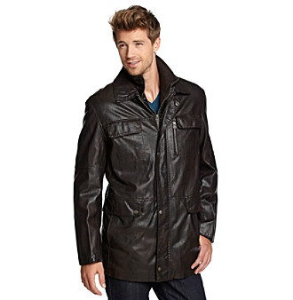 Excelled Sheepskin Men's Bibbed Car Coat