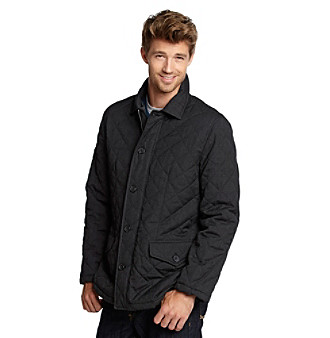 Excelled Sheepskin Men's Black Quilted Jacket