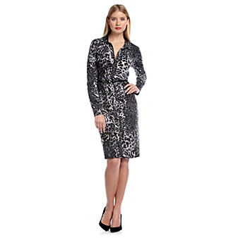 Anne Klein® Animal-Print Polo Dress