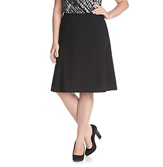 Calvin Klein Plus Size Solid A-Line Skirt