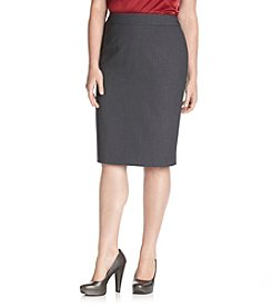 Calvin Klein Plus Size Solid Pencil Skirt