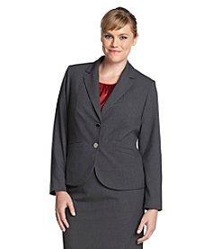 Calvin Klein Plus Size Two Button Blazer