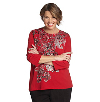 Alfred Dunner® Plus Size Paisley Print Top