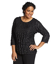 Notations® Plus Size Eyelash Top