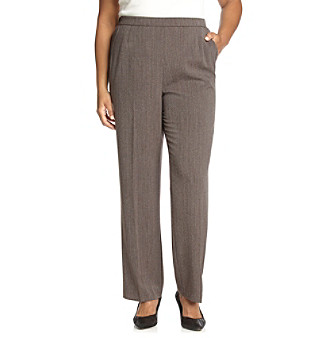 Briggs New York® Plus Size Flat-Front Pants