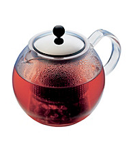 Bodum® Assam 34-oz. Heat Resistant Tea Press Teapot with Glass Handle and Stainless Steel Lid