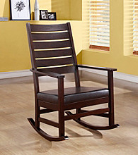 Monarch Cappuccino Slat Back Rocking Chair
