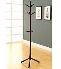 Monarch Cappuccino Contemporary Coat Rack