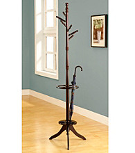 Monarch Cappuccino Coat Rack With Umbrella Holder