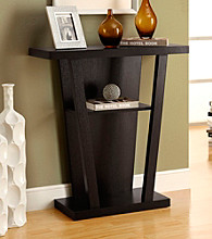 Monarch Cappuccino Symmetrical Console Table