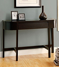 Monarch Cappuccino Rounded Console Table