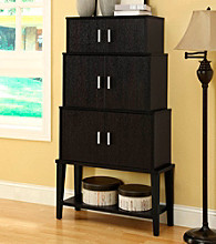 Monarch Cappuccino Stacking Style Storage Cabinet