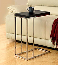 Monarch Cappuccino Chrome Metal Snack Table