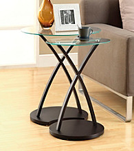Monarch 2-pc. Cappuccino Bentwood Nesting Table Set