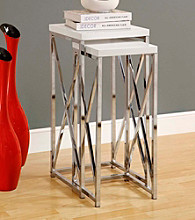 Monarch 2-pc. Criss-Cross Chrome Metal Nesting Plant Stand Set