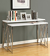 Monarch 2-pc. Criss-Cross Chrome Metal Nesting Console Set