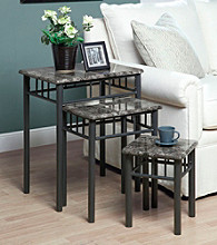 Monarch 3-pc. Windsor Metal Nesting Table Set