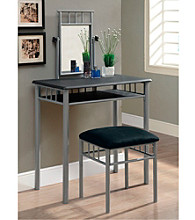 Monarch 2-pc. Madison Black Vanity Set