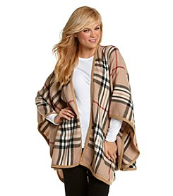 V. Fraas Classic Exploded Plaid Ruana