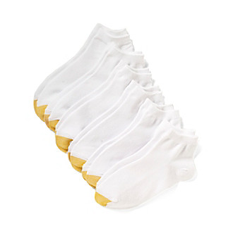 GOLD TOE® White Flat Knit Quarter Socks 6-Pack