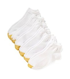 GOLD TOE® White Flat Knit Quarter Socks 6-Pack