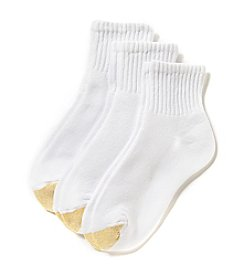 GOLD TOE® White HydroTec Quarter 3-Pack Extended Sizes