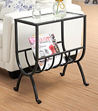 Monarch Stardust Magazine Table with Tempered Glass