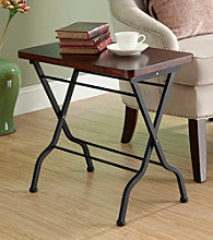 Monarch Metal Folding Accent Table