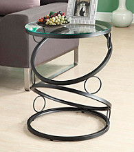 Monarch Matte Black Metal Accent Table