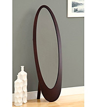 Monarch Cappuccino Contemporary Oval Cheval Mirror