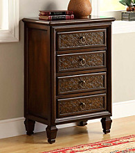 Monarch Dark Brown Transitional 4-Drawer Bombay Chest