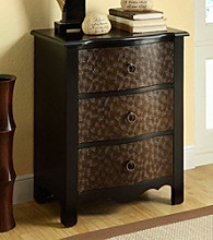 Monarch Black & Gold Transitional 3-Drawer Bombay Chest