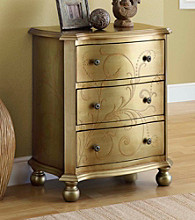 Monarch Golden Transitional 3-Drawer Bombay Chest