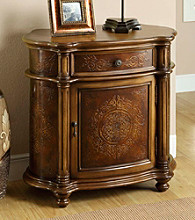 Monarch Light Brown Traditional 1-Drawer Bombay Cabinet