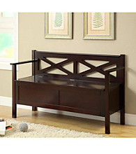 Monarch Criss-Cross Bench With Storage