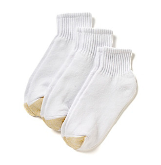 GOLD TOE® White HydroTec Quarter Socks 3-Pack