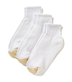 GOLD TOE® White HydroTec Quarter Socks Three-Pack