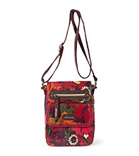sakroots™byTheSak® Artist Circle Scarlet Flower Power Small Flap Messenger