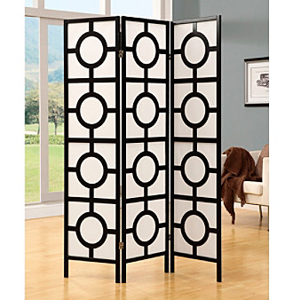 Monarch 3 Panel Circles Folding Screen